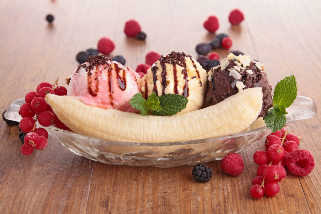 banana split at cafe bistro