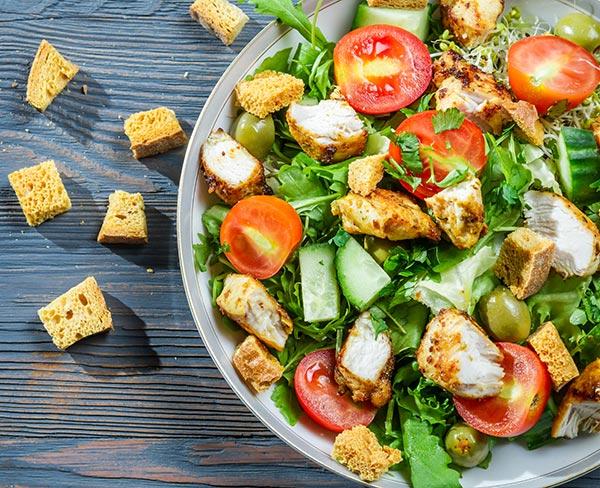 garden fresh salad on lunch special